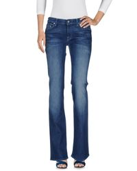 7 For All Mankind Blue Denim Trousers