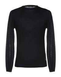 Pullover di Officina 36 in Black da Uomo