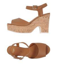 Fendi - Brown Sandals - Lyst