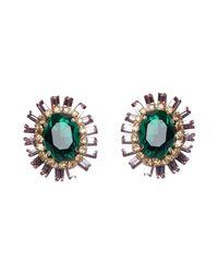 Deepa Gurnani - Green Earrings - Lyst