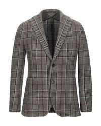Tagliatore Gray Suit Jacket for men