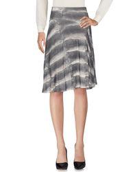 Class Roberto Cavalli   Gray Knee Length Skirt   Lyst