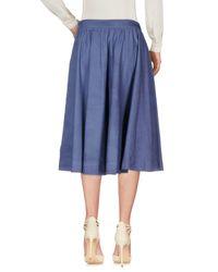 Jupe mi-longue Jijil en coloris Blue