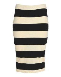 James Perse White Knee Length Skirt