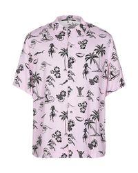 McQ Alexander McQueen Pink Billy Palm Vacation Shirt for men