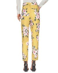 Liu Jo Yellow Casual Pants