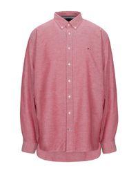 Camicia di Tommy Hilfiger in Pink da Uomo