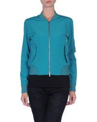 MM6 by Maison Martin Margiela Blue Jacket