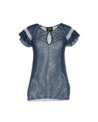 Class Roberto Cavalli - Blue Sweater - Lyst