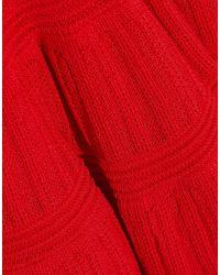 Robe courte Hervé Léger en coloris Red
