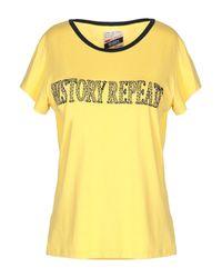 Camiseta History Repeats de color Yellow