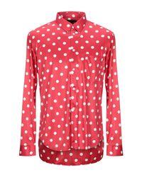 Camicia di Comme des Garçons in Red da Uomo