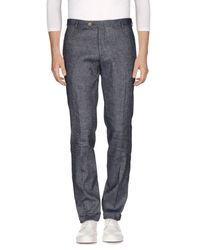 LABORATORI ITALIANI Blue Denim Pants for men