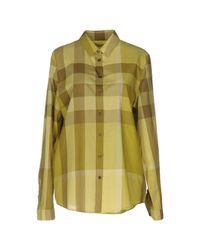 Burberry Green Shirt
