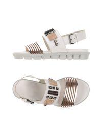 Vic Matié White Sandals