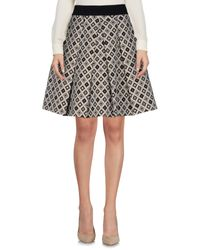 Si-jay Black Knee Length Skirt