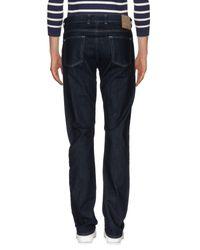 Canali Blue Denim Pants for men