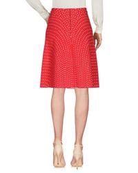 Alaïa Red Knee Length Skirt