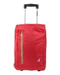 K-Way Red Wheeled luggage for men
