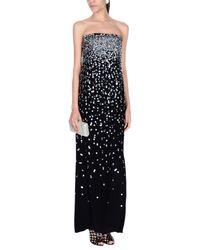 Oscar de la Renta Black Long Dress