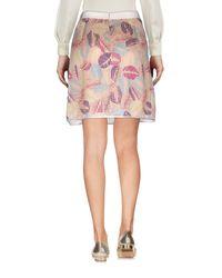 Paola Frani Pink Knee Length Skirt