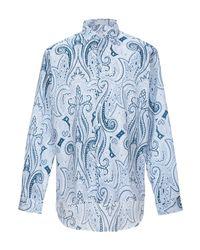 Camicia di Etro in Blue da Uomo
