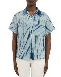 STORY mfg. Blue Shirt for men