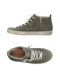 Leather Crown Multicolor High Sneakers & Tennisschuhe