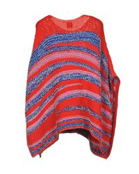 Pinko Red Capes & Ponchos