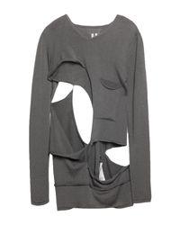 Pullover Rick Owens de hombre de color Gray
