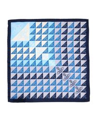 Vivienne Westwood Blue Square Scarf