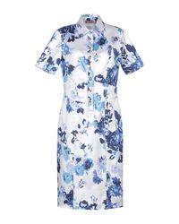 Angelo Marani White Knee-length Dress