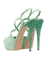 Sandali di Casadei in Green