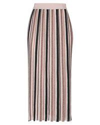 Jupe mi-longue Pennyblack en coloris Pink