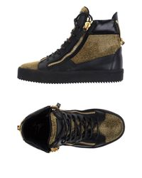 Giuseppe Zanotti Black High-tops & Sneakers