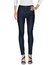 Pantalon en jean Karen Millen en coloris Blue