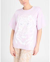 T-shirt oversize imprimé tigre See By Chloé en coloris Purple