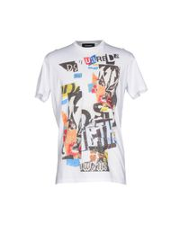 DSquared² - White T-shirts for Men - Lyst