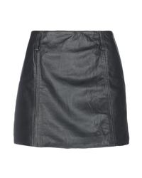 Vintage De Luxe Black Mini Skirt