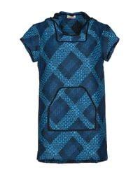 Calla - Blue Short Dress - Lyst
