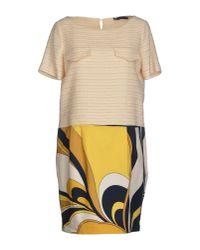 Blue Les Copains - Yellow Short Dress - Lyst