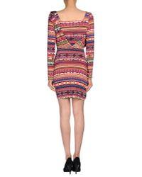 Just Cavalli | Red Short Dress | Lyst