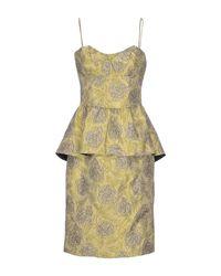 Armani - Yellow Knee-length Dress - Lyst