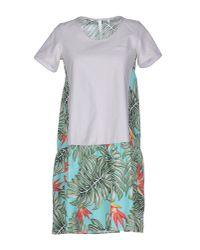 Aglini | White Short Dress | Lyst