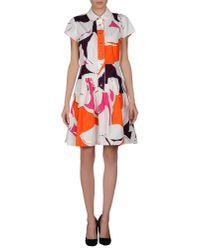 Diane von Furstenberg - Orange Short Dress - Lyst