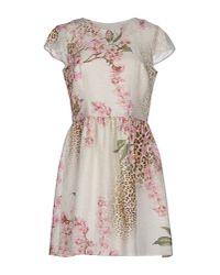 Blugirl Blumarine | Natural Short Dress | Lyst