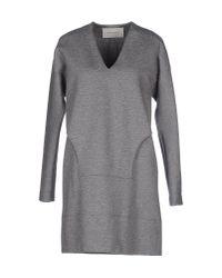Cedric Charlier Gray Short Dress
