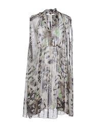 Pinko - Gray Short Dress - Lyst