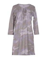 Majestic Filatures - Gray Short Dress - Lyst