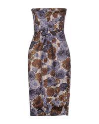 Erika Cavallini Semi Couture - Purple Knee-length Dress - Lyst